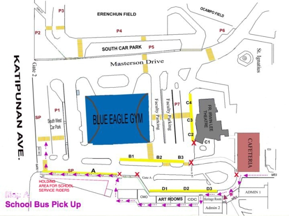 exit route for students who take the school service