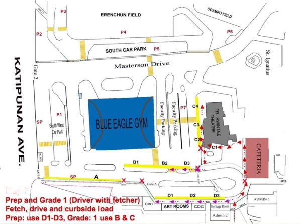 pick up routes of prep and grade 1 students