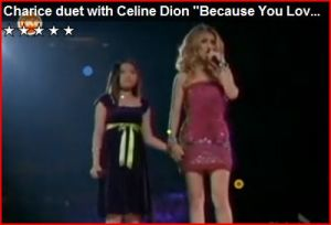 charice pempengco and celine dion at madison square garden