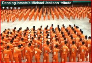 1500 prisoners pay tribute to michael jackson