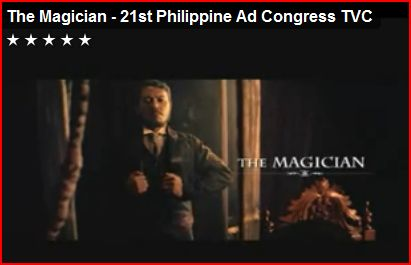 the magician 21st philippine ad congress tvc