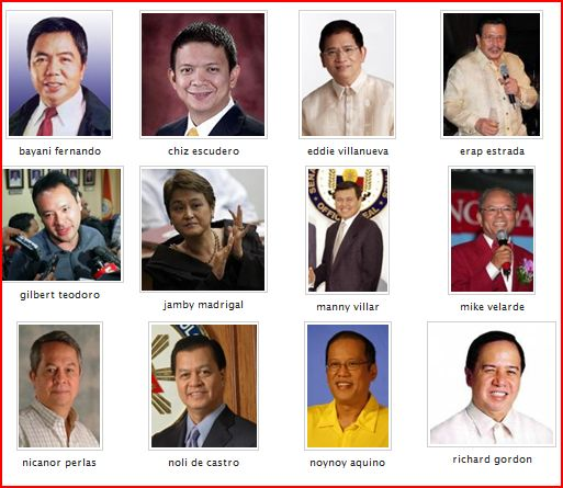 2010 presidentiables you will not vote
