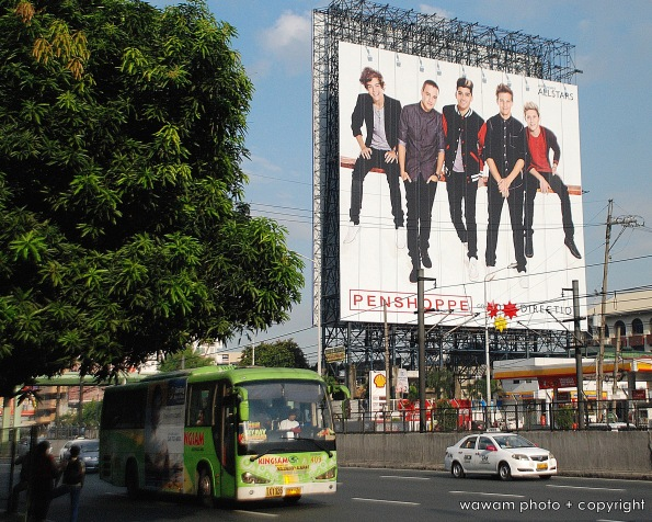 on ground level EDSA to get a sense of the size of the billboard