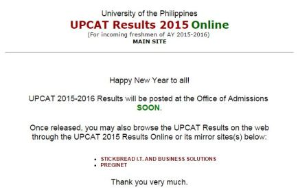UPCAT 2015